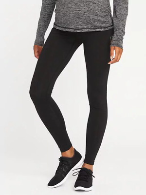 Old Navy Maternity Full-Panel Compression Leggings Tight Black ~NWT~ Size Medium
