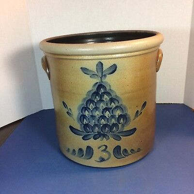 Rare Rowe Pottery Works Crock 2002 Historical Collection