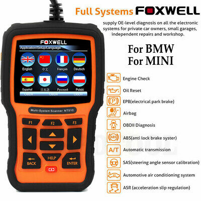 FOXWELL NT510 FOR BMW OBD2 Diagnostic Scan Tool ABS SRS Airbag EPB