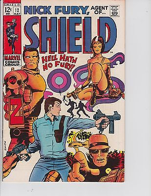 Nick Fury Agent of SHIELD  #12 (FN/VF  7.0) May-1969,  Marvel