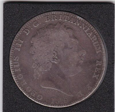 1819  King  George  III Large Crown / Five Shilling Coin  from Great Britain