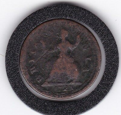 1723   King George  Farthing  Copper Coin
