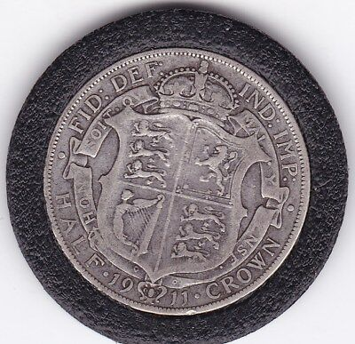 1911   King  George V  Half  Crown  (2/6d) -  Silver  (92.5%)  Coin