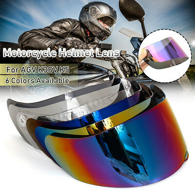 Motorcycle Motocross Wind Shield Helmet Lens Visor Full Face For AGV K1 K3SV K5