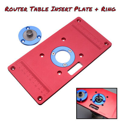 New aluminum router table insert plate 4 rings screws for aluminum router table insert plate ring screw for woodworking benches trimmer greentooth Images