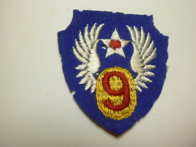 A   WW 2 U S Army 9th Air Force  English Made Embroidered Felt Patch