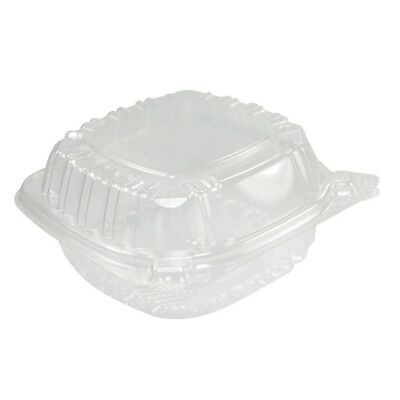 A World Of Deals Small Clear Plastic Hinged Food Container for Sandwich S... New