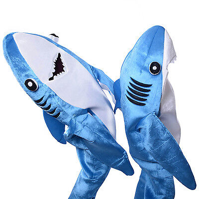 Blue Shark Costumes Adult Kids Mascot Halloween Parent-child Game Animal Cosplay  sc 1 st  PicClick & ADULT SHARK COSTUME Halloween Mascot Funny Animal Blue - $71.63 ...