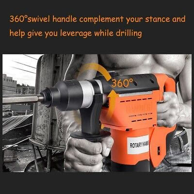 """High Quality 1-1/2"""" Electric Hammer Drill Set SDS Rotary Demolition Tool Kit Set"""