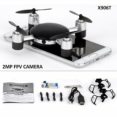 X906T FPV RC Mini wifi Camera Drone RC Quadcopter 2.4GHz 4CH 6-Axis Gyro 3D UFO