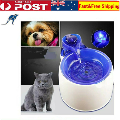 Automatic Pet Water Fountain Electric Feeder Dispenser Dog/Cat Drinking Bowl 3L