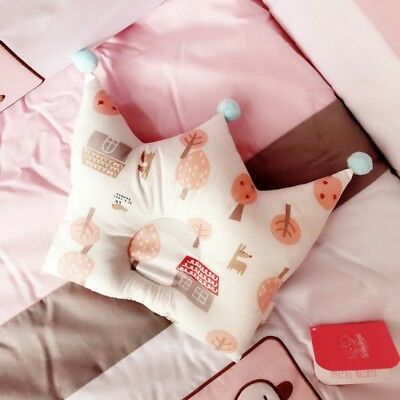 US Baby Forming Pillow Cotton Pillow Prevent Flat Head Kid Crown Shape Pillow