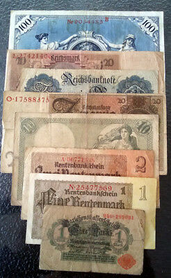 Germany Lot of Banknotes All Different