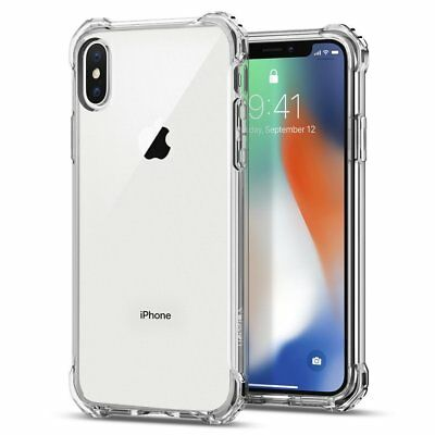 Lot For iPhone 7 X Case Samsung Silicone Crystal Clear Bumper Shockproof Cover