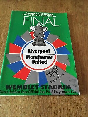 Liverpool V Manchester United Fa Cup Final 1977