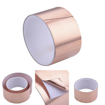 2m×50mm Adhesive Copper Foil Tape EMI Shield Tape one-side Conductive For Guitar