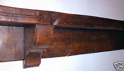 Mantel shelf oak beam mantelshelf traditional old wood cottage fireplace replica