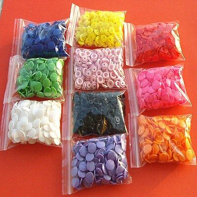 Lots 100PCS sets Size 20 T5 Resin Button Popper For Cloth Diapers Crafts