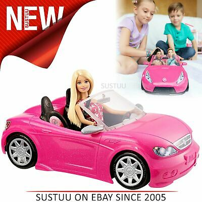 Barbie Glam Convertible Mattel Car│Doll Vehicle│Funny Toy Seats│Pink│3 Years +│