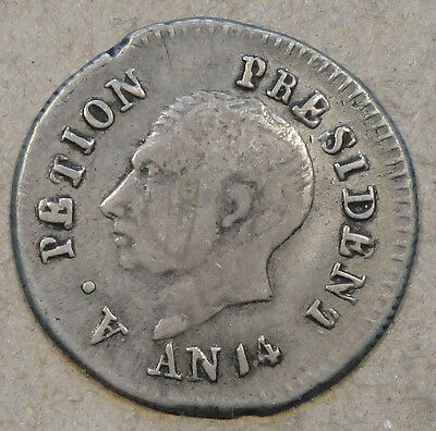 Haiti AN 14(1817) 25 Centimes Very Nice for Type few old light scratches on face
