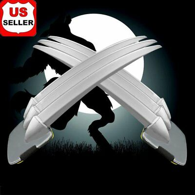 Adult/children 2PCs Wolverine Claws Hard plastic Cosplay The props Christmas HWI