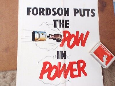 Fordson  Power Major Tractor - Folding Colour Brochure
