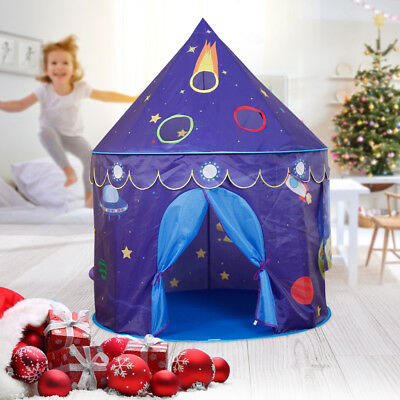 Prince Princess Castle Playhouse Space Tent Theme Foldable Game Indoor Outdoors