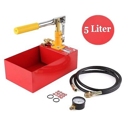 Pro Water Pipe Line Installation Heating System Leakage Pressure Tester Pump Kit
