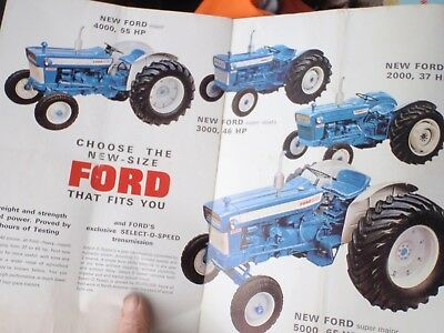 Ford  2000--5000 Tractors - Colour  24 page Brochure