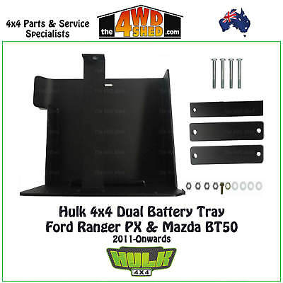 Hulk 4x4 Dual Battery Tray suit Ford Ranger PX & Mazda BT50 Underbody 2011-on