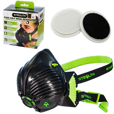 Stealth Reusable Safety Mask - P3 Respirator Mask with Standard & Odour Filters
