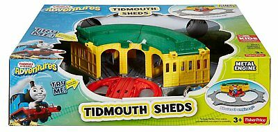 FISHER PRICE- THOMAS & Friends Tidmouth Sheds Deluxe Turntable Train ...