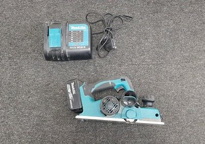 Makita Dkp 180 Planer With A 4.0 Ah 18V Battery And Dc18Sd Charger