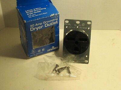 Leviton 800-5372 8005372 30A Power Receptacle Dryer Outlet New
