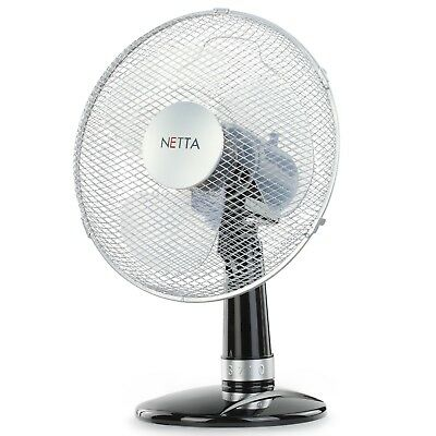 Netta Multiple Speed Turbo Table Desk Fan Cooling Air Circulator Electric