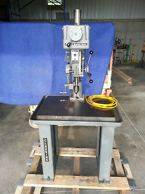 """Clausing 15"""" Industrial Drill Press on production table"""