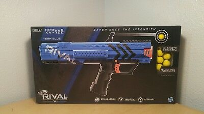 New ~Team Blue Nerf Blaster Precision Battling Soft Dart Gun Rival Apollo Xv-700
