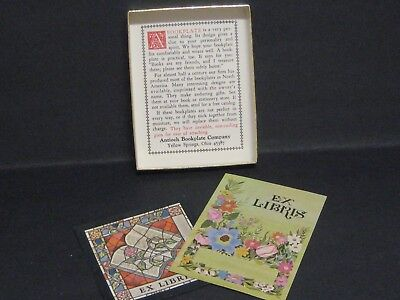 62 Vintage Book Plate EX LIBRIS - 2 Styles - Antioch Bookplate Co. Made in USA
