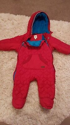 Red Baby ted baker snowsuit winter clothing boys / girls  0-3 months coat jacket