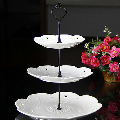 2/3 Tier Cake Plate Stand Cupcake Raccordi Silver Golden Wedding Party Cocktail-