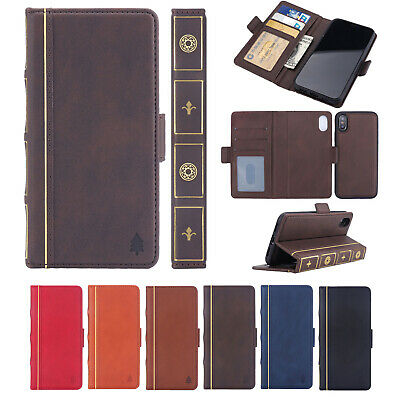 Vintage Book Retro Classic Leather Wallet Case Cover For iPhone XS Max XR 8 7 6s