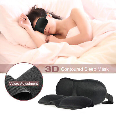 |2-Pack| 3D Contoured Sleep Mask Eye Pillow Breathable Fabric, Adjustable Strap