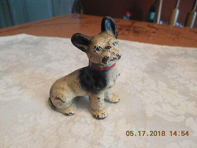 Vtg Cast Iron  Hubley? French Bulldog Paperweight Mini