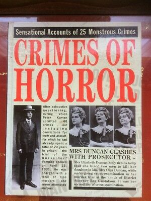 Crimes of Horror As New