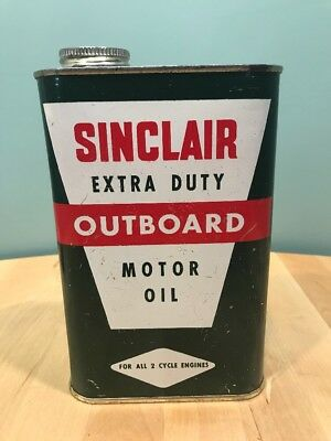 Vintage Sinclair Extra Duty Outboard Motor Oil- Empty