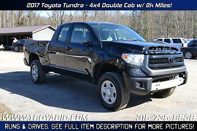 Tundra NO RESERVE 2017 Toyota Tundra 4x4 Rebuildable Truck Repairable Damaged Wrecked
