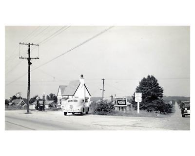 1941 Pure Oil Gas Station Automobile Photo Bessemer City NC Gas Globe ch2465