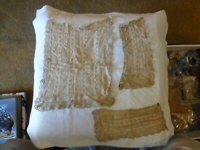"Victorian ""normandie"" Lace Cuffs And Dickey Insert-Paisley, Crochet"