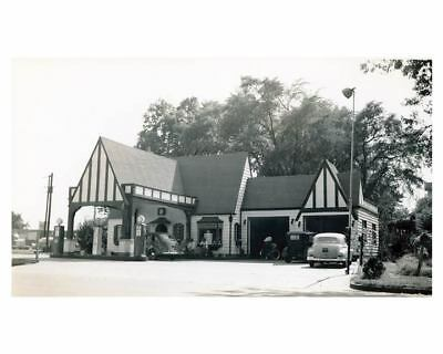 1941 Pure Oil Gas Station Photo Rock Hill South Carolina Gas Globe ch2666
