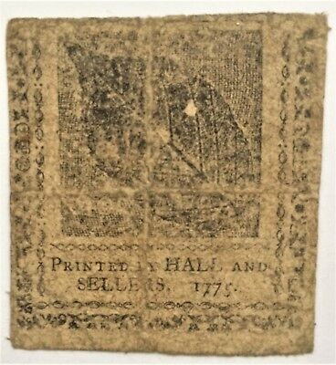 PENNSYLVANIA 40 SHS of 1775 with BEECH LEAF PRINT INVENTED by BENJAMIN FRANKLIN